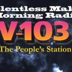 RELENTLESS GOES H.A.M. on V-103 Frank & Wanda Show