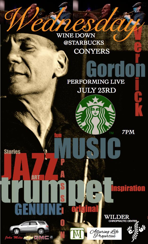 JULY 23RD @STARBUCKS OF CONYERS - THE GORDON VERNICK TRIO