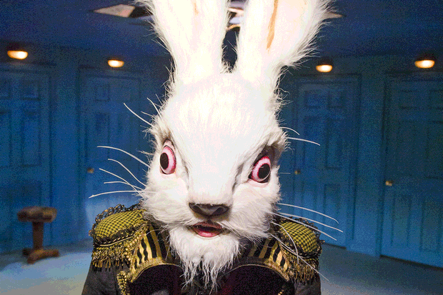 white rabbit alice in wonderland traphegan elementary school mount vernon ny