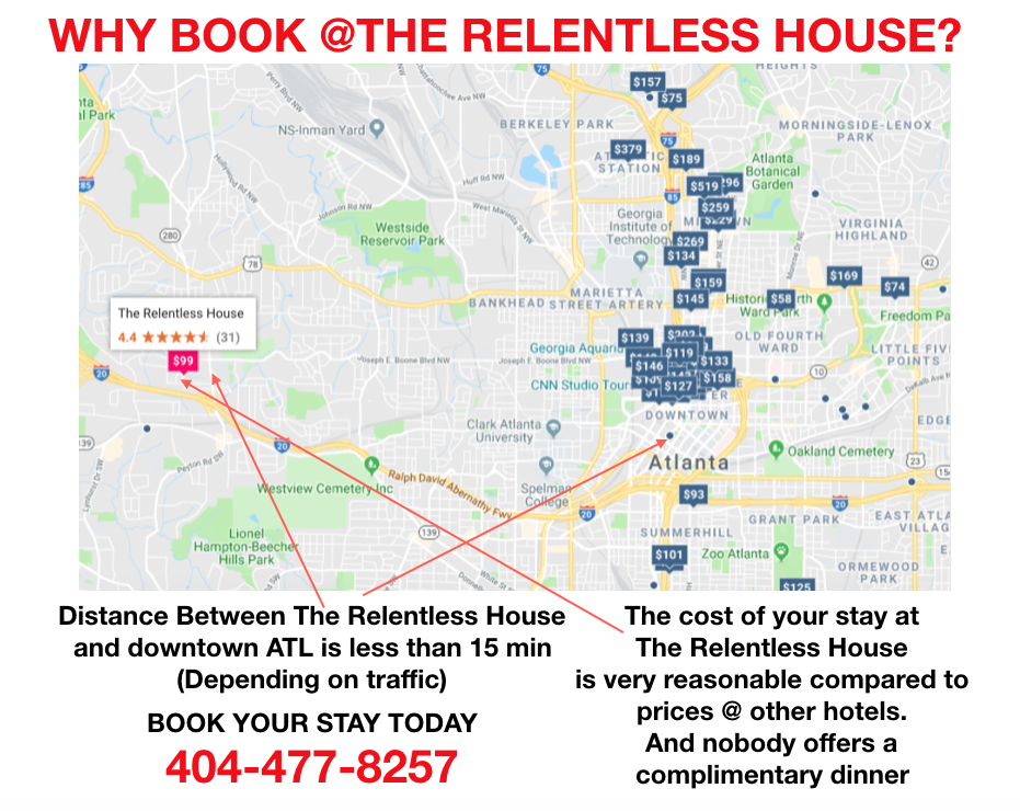 Bed & Breakfast - The Relentless House - Atlanta Hospitality