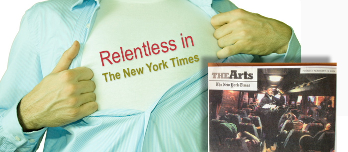 relentless aaron new york times front page article