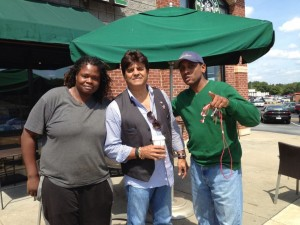 eric estrada at starbucks conyers georgia relentless aaron