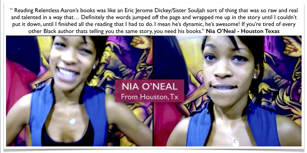 Nia is one of many hundreds of video testimonials that I've accumulated over the years. Thank you very much to all of my supporters! Relentless